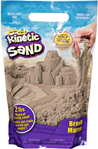 Kinetic Sand The Original Moldable Sensory Play Sand, Brown, 2 Lb