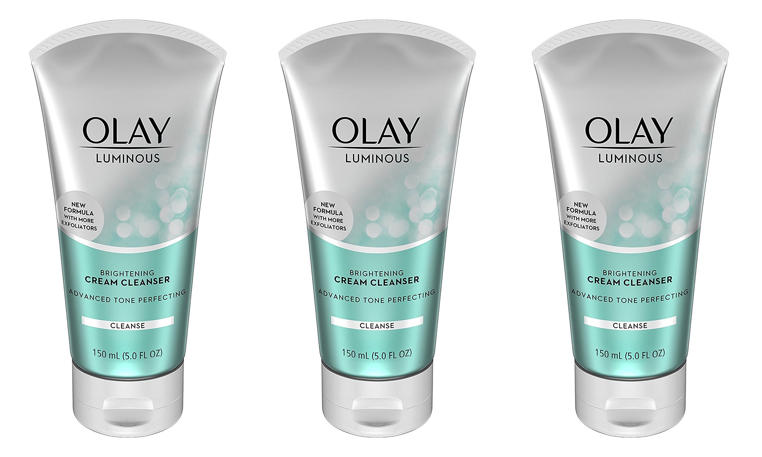 Olay Luminous Brightening Cream Face Cleanser, 5.0 Fluid Ounce (Pack of 3)