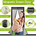 "Mesh 38""x 82"" Magnetic Screen Door Curtain with Full Frame Velcro"