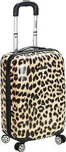 Rockland Safari Hardside Spinner Wheel Luggage, Leopard, Carry-On 20-Inch