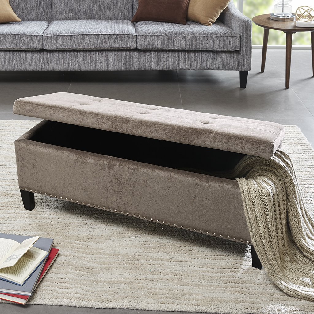 Madison Park FPF18-0197 Shandra II Tufted Top Storage Bench