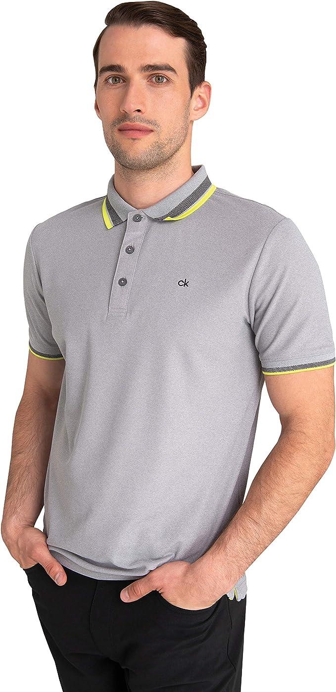 Calvin Klein Golf Spark Performance CK - Polo para hombre: Amazon ...