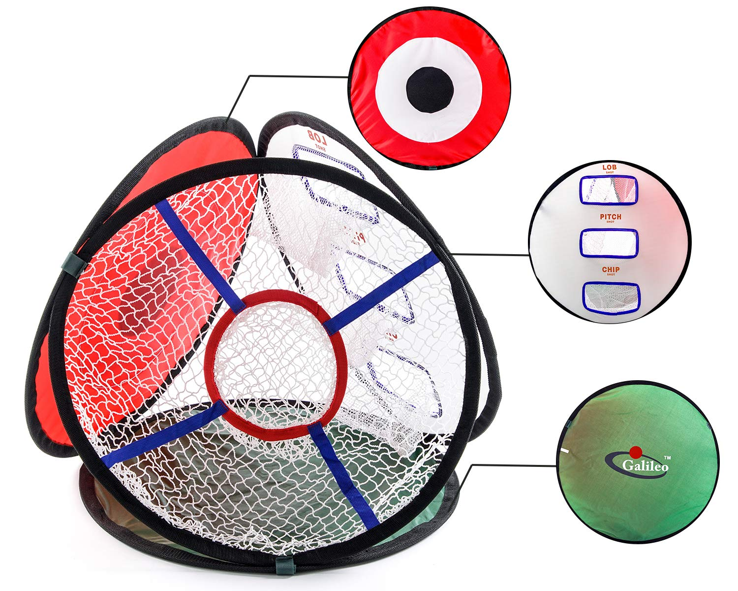 Galileo Driving Net Golf Indoor Outdoor Chipping Hitting Practice Pop up Golfing Collapsible Net Accessories Golf Outdoor Game