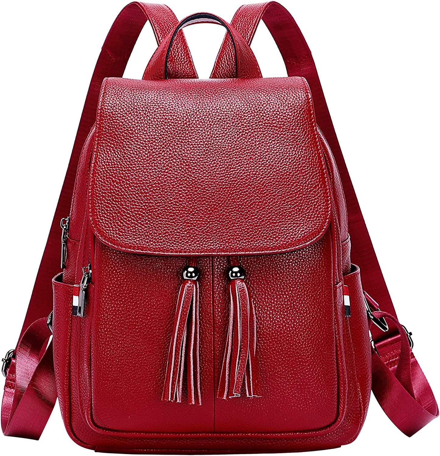 ALTOSY Genuine Leather Backpack Purse for Women Fashion Ladies Travel Bag