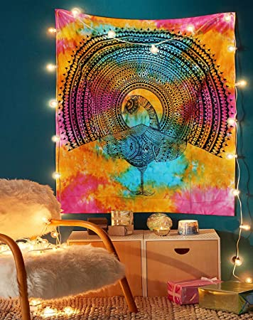 Good Looking Home Decor Purple Color Desgin Small Cotton Tapestry Poster Indian