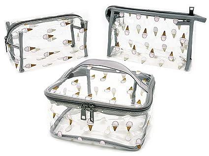Amazon.com: Bolsa de viaje transparente de 3 piezas para ...