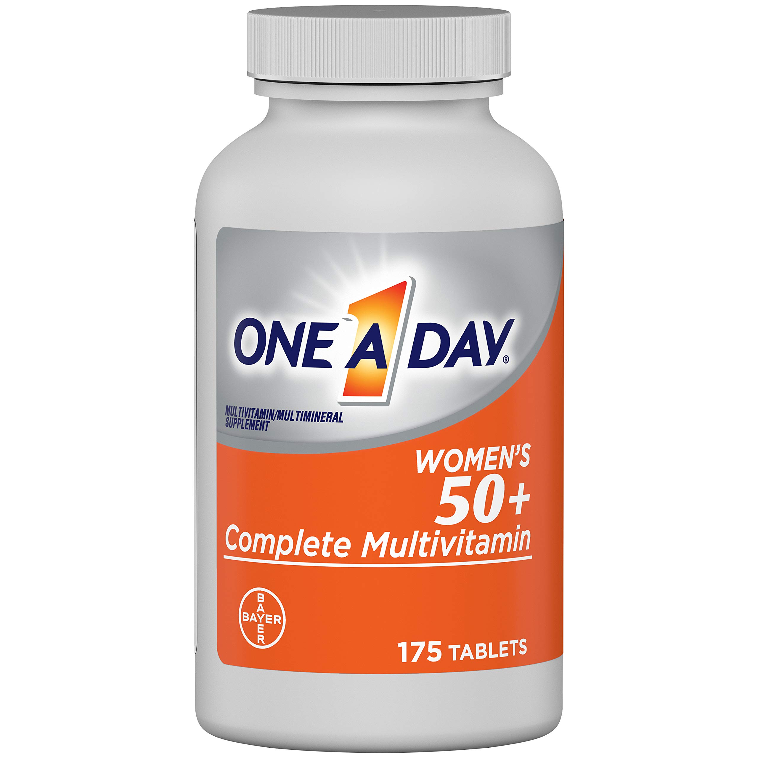 One A Day Women's 50+ Multivitamins, Supplement with Vitamin A, Vitamin C, Vitamin D, Vitamin E and Zinc for Immune Health Support, Calcium & More, 175 Count