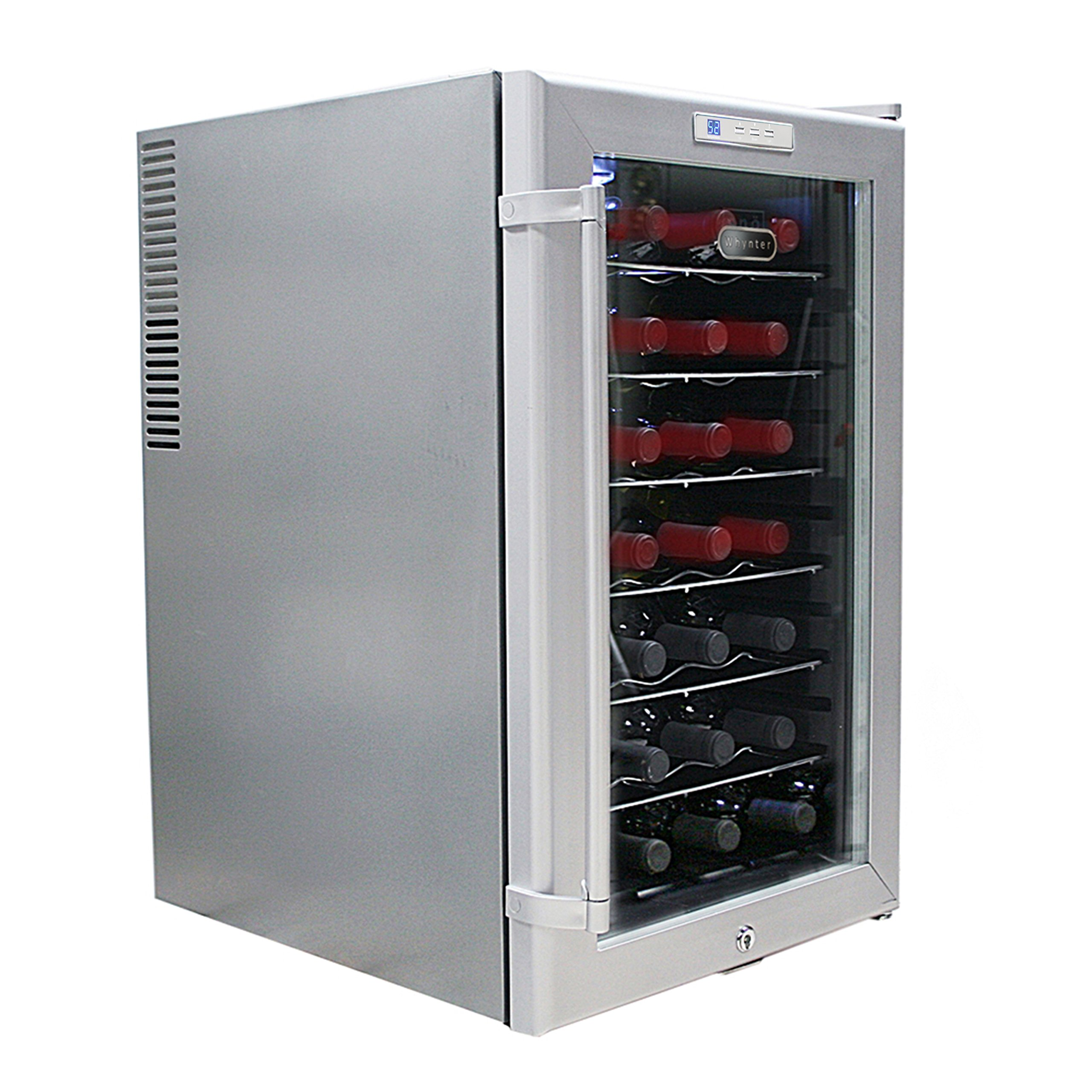 Whynter WC28S SNO 28 Bottle Wine Cooler, Platinum with Lock by Whynter (Image #4)