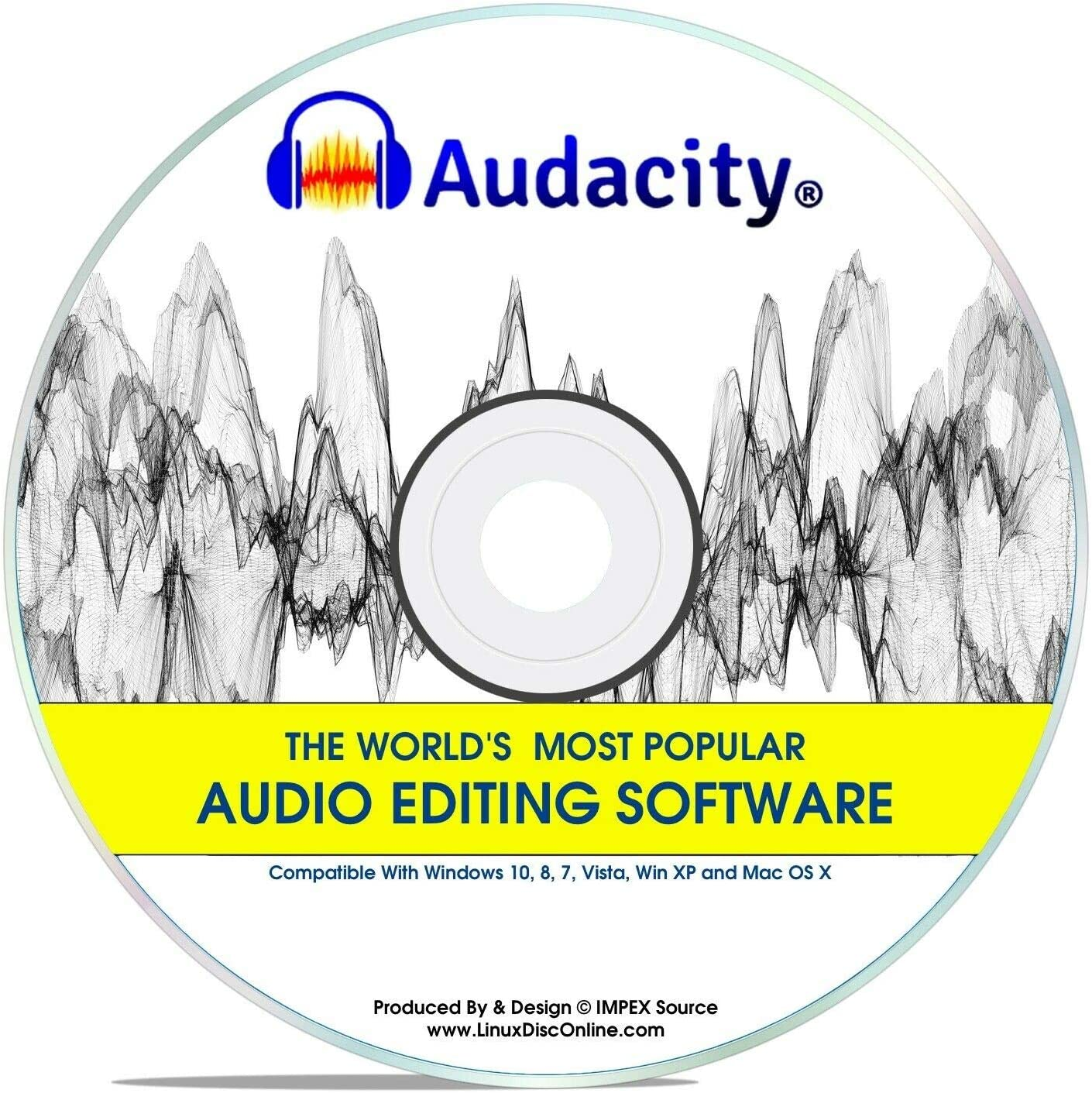 Audacity® 2020 Newest Professional Pro Audio Music Editing Recording Software Win 10,8,7,*Vista* And XP Mac OS X Linux