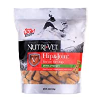 Nutri-Vet Hip & Joint Biscuits for Dogs | Tasty Dog Glucosamine Treat & Joint Supplement