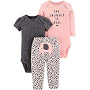 Carter's Baby Girls 3-pc. The Snuggle is Real Layette Set (Peach, 6 Months)