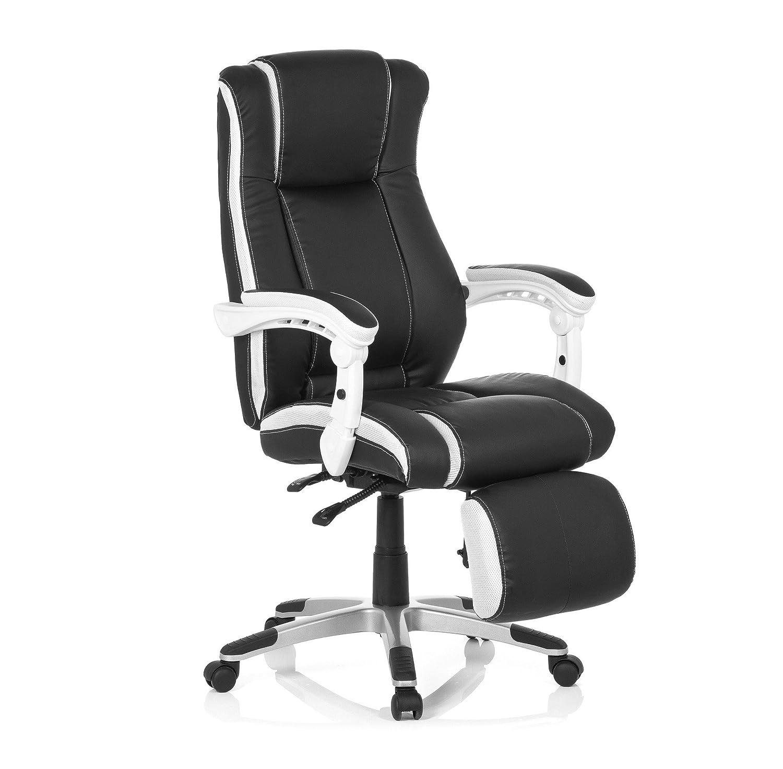 Schreibtischstuhl schwarz weiß  Bürostuhl Gaming-Stuhl PC GAMING RELAX Chefsessel mit Armlehnen ...
