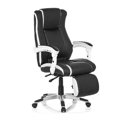 MyBuero silla gaming GAMING RELAX piel sintética negro / blanco 444450