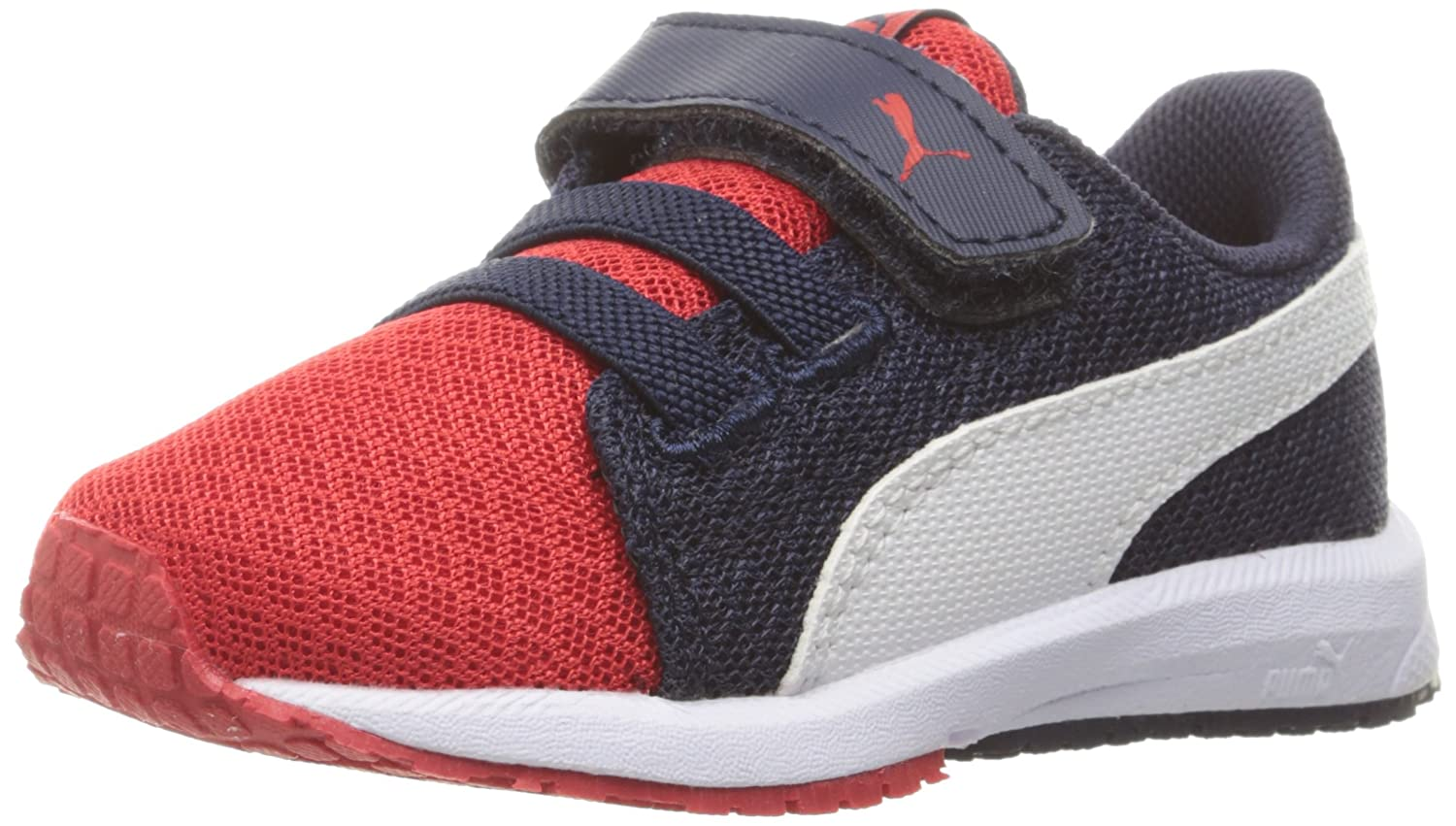 low priced a7ede cfd42 Puma Kids Carson Runner Mesh Ve V Inf Sneaker 4 M US ToddlerHigh Risk  Red-puma White - sommerprogramme.de