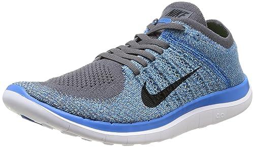 nike men's free flyknit 4.0 running shoes