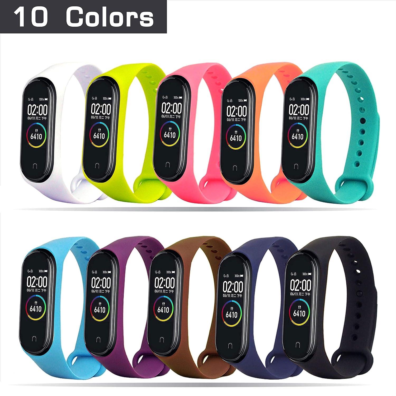 HITO Correa para Xiaomi Mi Band 3/4,10 Colores Pulsera Silicona ...