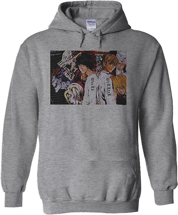 NisabellaLTD Death Note Light Anime L Manga Japan White Men Women Unisex Hooded Sweatshirt Hoodie