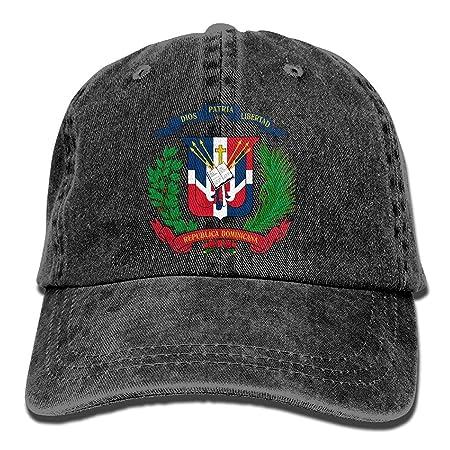 Jxrodekz Men&Women Dominican Flag Adjustable Vintage Washed Denim ...