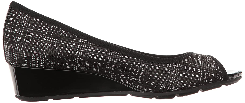 Anne Fabric Klein Sport Women's Camrynne Fabric Anne Wedge Pump B01N0Q8RHC 7.5 B(M) US|Black/White/Multi Fabric 742818