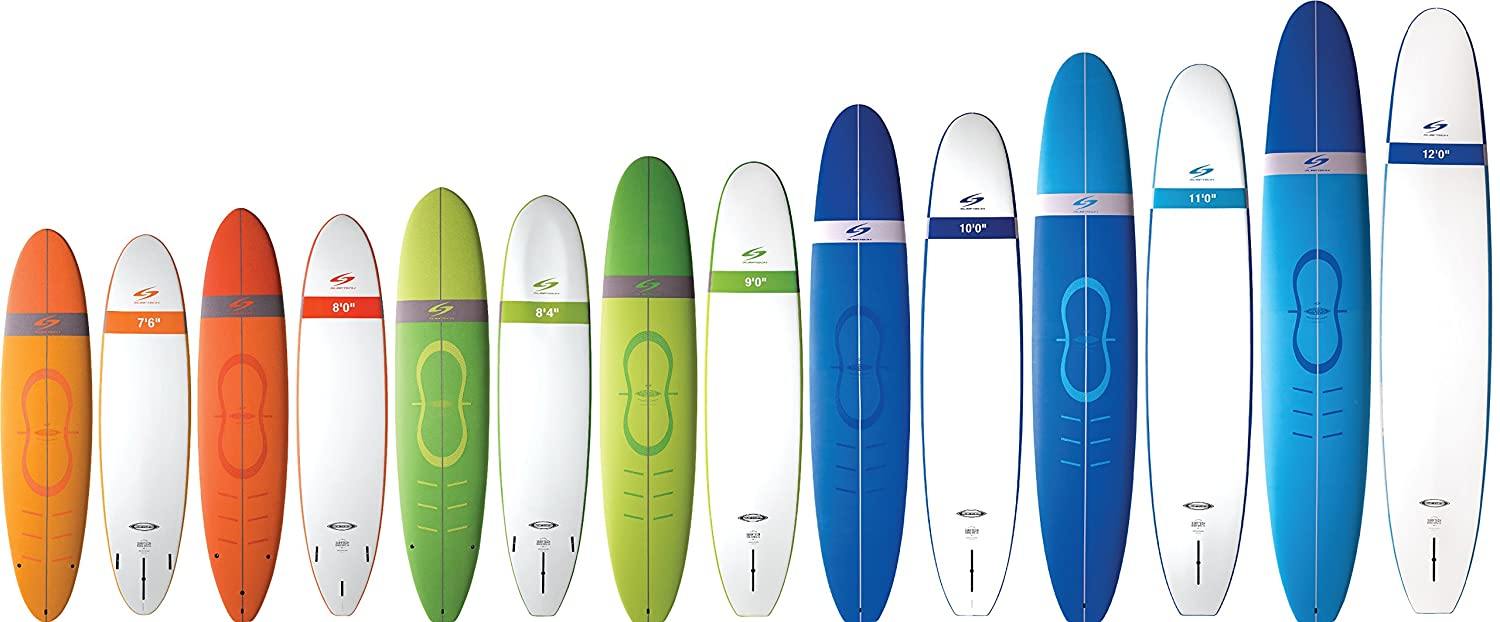 Surftech Learn2Surf Softop Surfboard | Super Durable Soft Surf Board |  Includes Fins 7'6 8'0 8'4 9'0 10'0 11'0 12'0