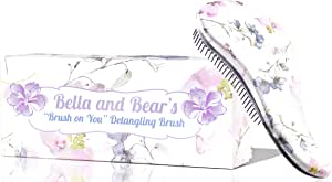 Bella and Bear Detangling Brush - the Best Detangler for Wet or Dry Hair - no more tangles no more tears