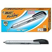 12Ct BIC Marking Retractable Permanent Marker Fine Point Black Deals
