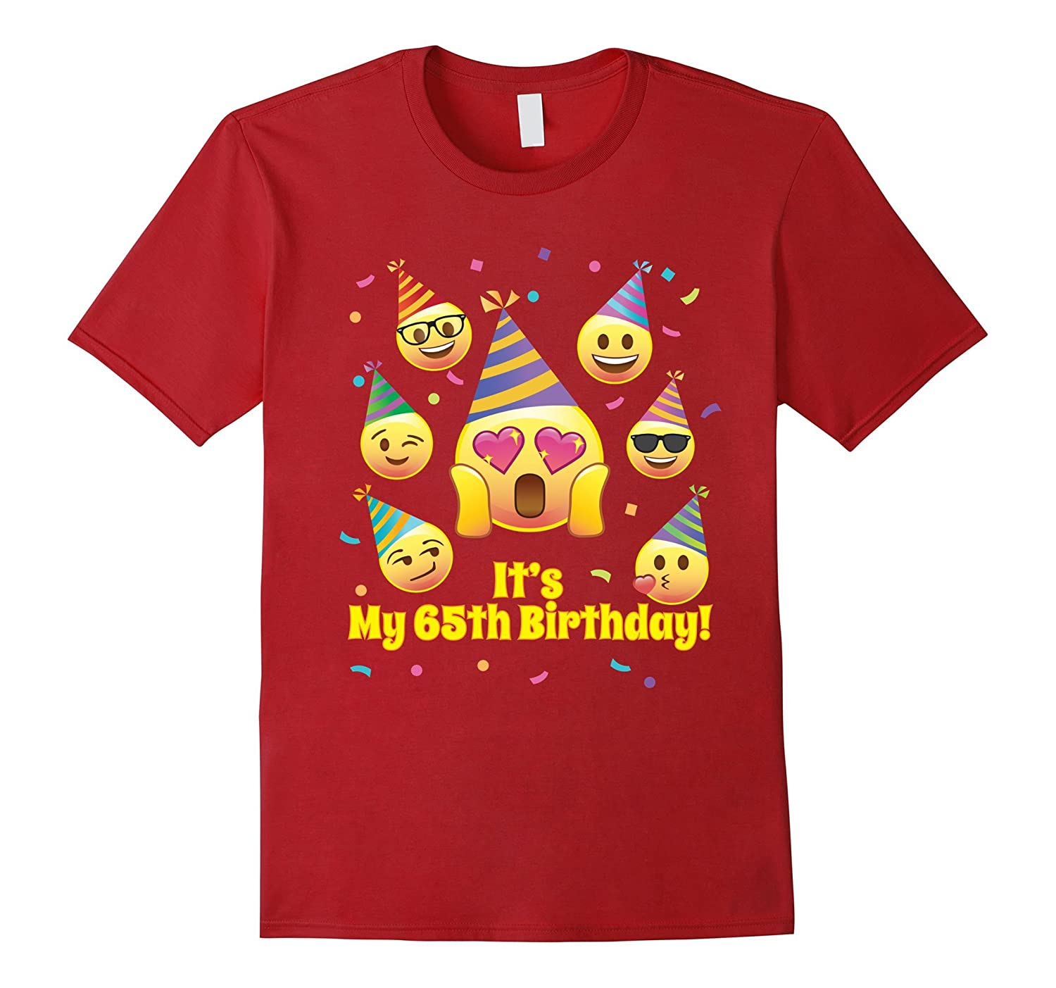 Emoji 65th Its My Birthday Shirt 65 T Funny Women Men TH