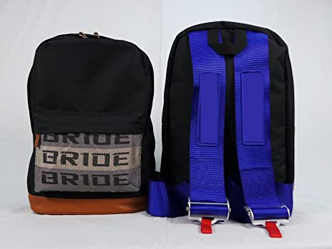 Amazon.com: Bride JDM Racing Backpack Racing Harness Shoulder Straps Zipper Pockets w Padded Computer Compartment: Automotive