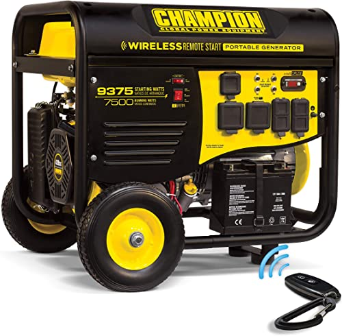 Champion Power Equipment 100161 9375 7500-Watt RV Ready Portable Generator with Wireless Remote Start