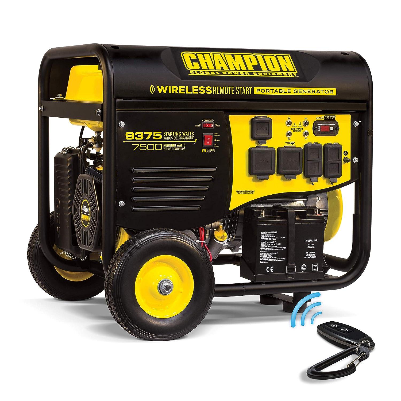 Champion 7500-Watt RV Ready generador portátil con Arranque Remoto ...