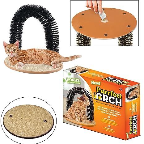 Innova® Arco de cerdas para gato con masajeador para mascotas ...