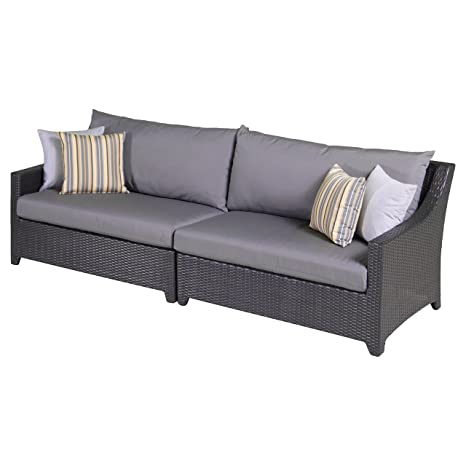 RST marcas Deco sofá de 2 piezas con cojines: Amazon.es: Jardín