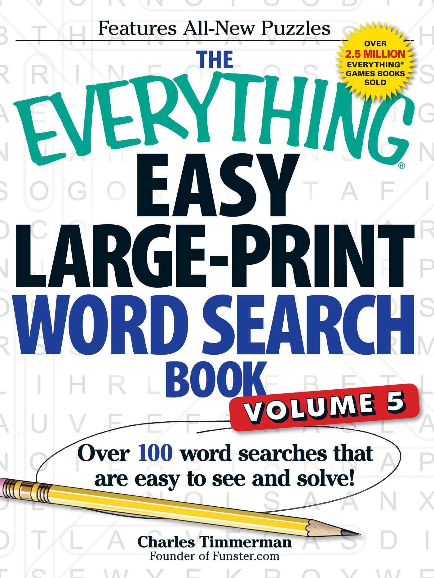 - The Everything Easy Large-Print Word Search Book, Volume 5: Over