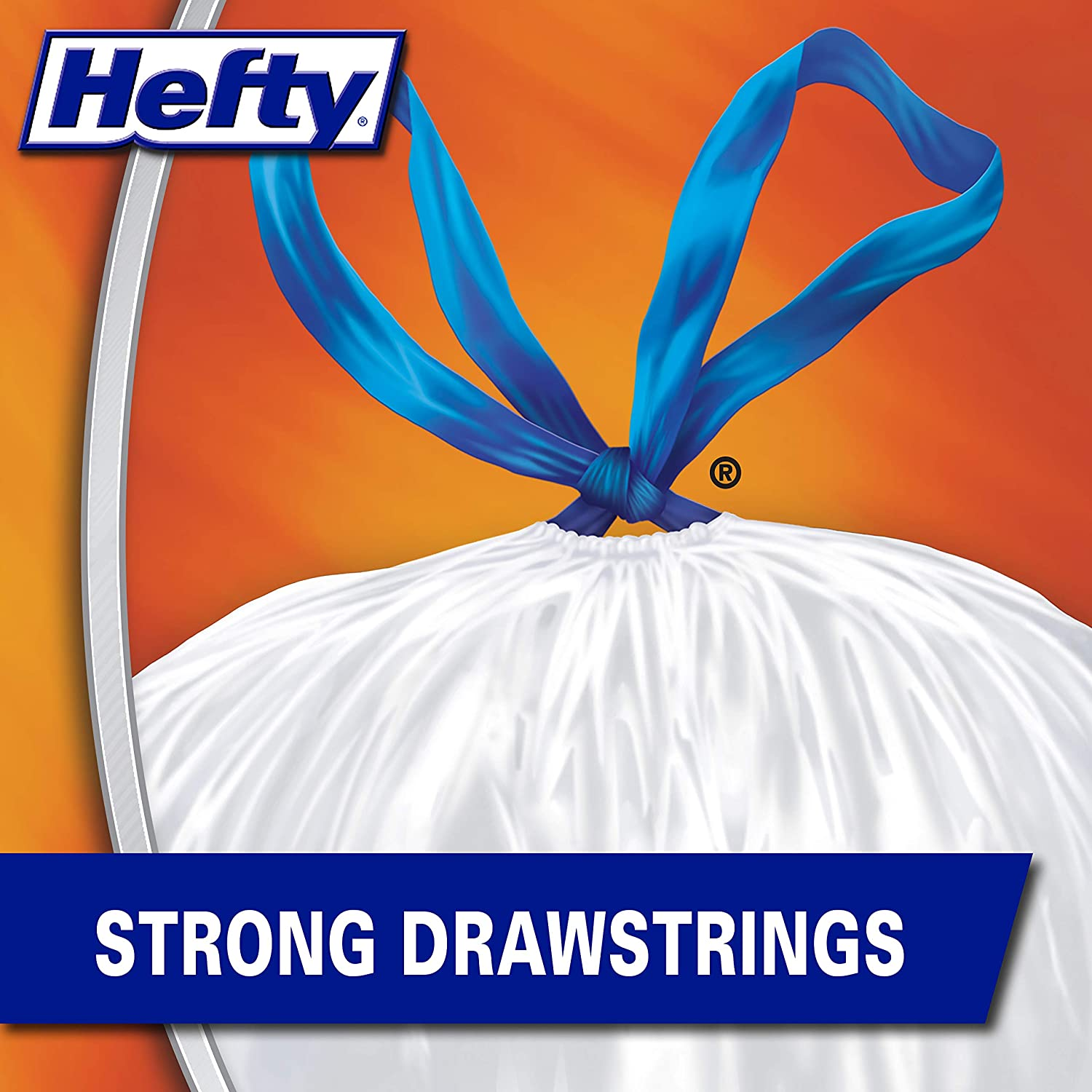 Original 13 Gallon, Pack of 1 Hefty Strong Tall Kitchen Trash Bags 90 Count