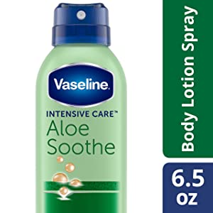 Vaseline Spray & Go Moisturizer, Aloe Fresh, 6.5 oz (Pack of 3)
