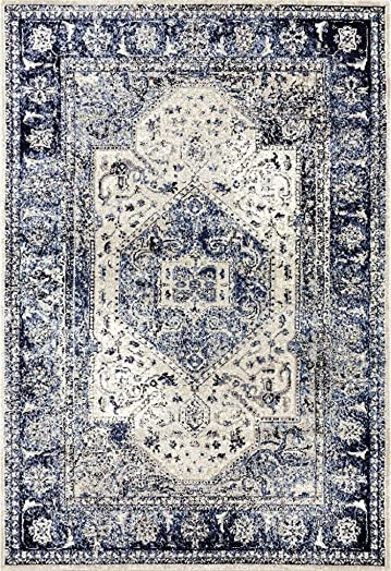 Persian-Rugs 2041 Distressed Ivory 8 x 10 Area Rug Carpet Large New