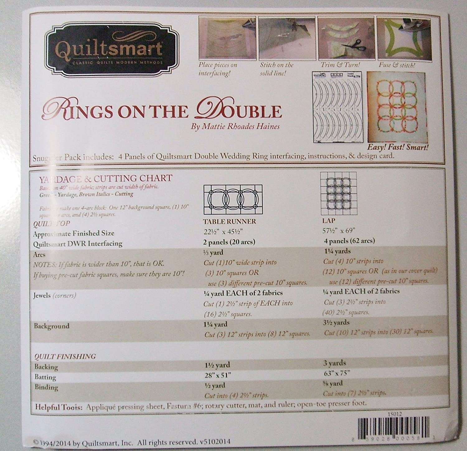 Quiltsmart double wedding ring pattern free