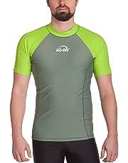 iQ-Company Camiseta para Hombre con protección UV 300 para Deportes acuáticos, Corte Ajustado