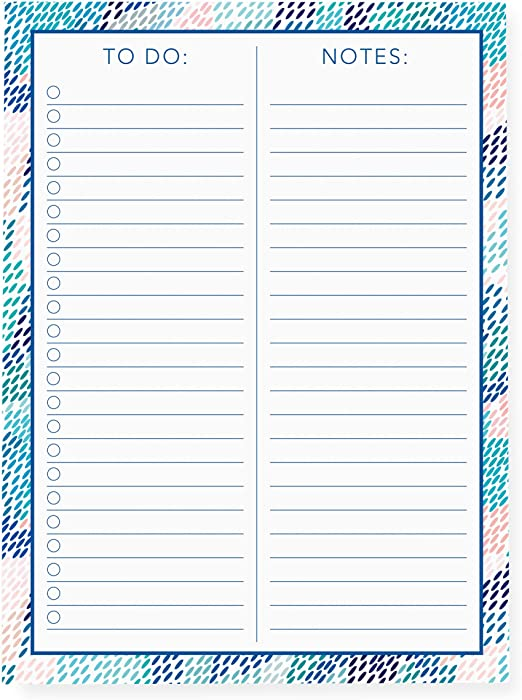 and More Notepad with 150 Tear-Off Sheets LNP158 Graphique Large Notepad Notes Perfect for Lists Dash Pattern 6 x 8