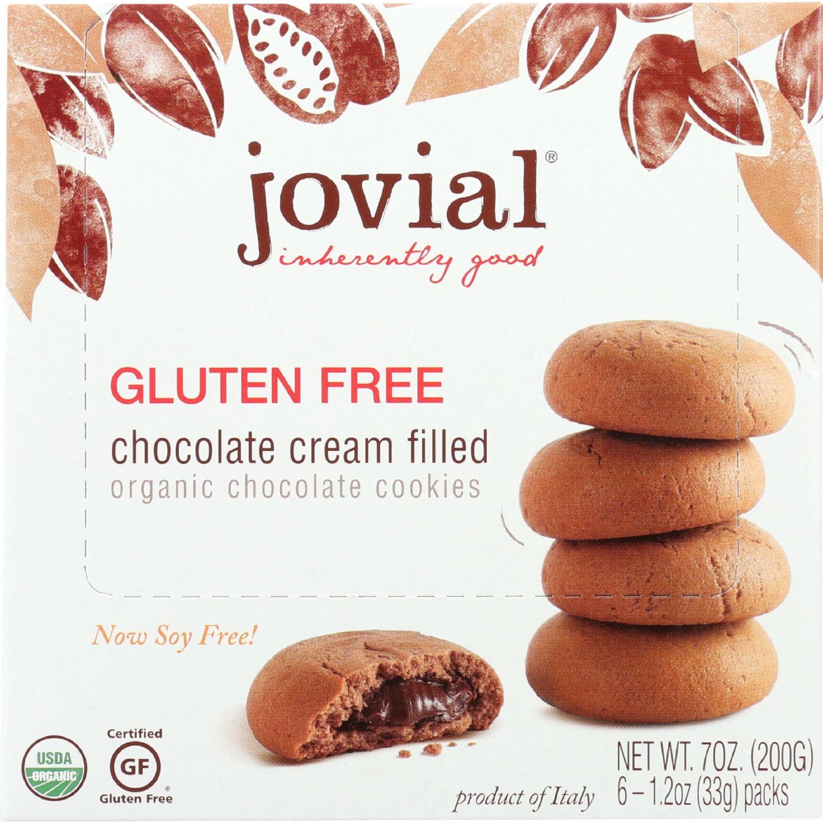 Jovial Cookies - Organic - Chocolate Cream - Gluten Free - 7 oz - case of 10