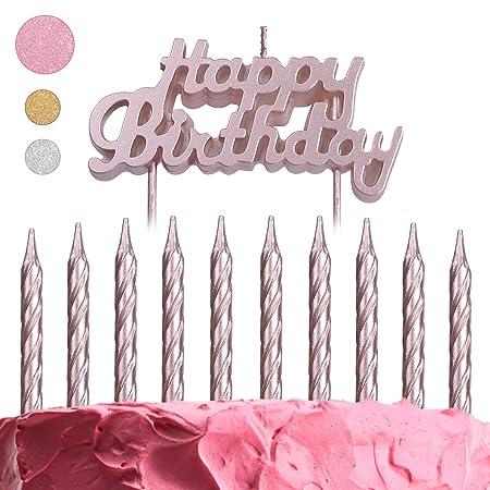 Get Fresh Juego de 10 Velas de cumpleaños, decoración de ...