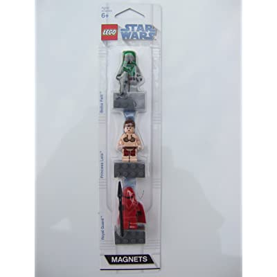 LEGO Star Wars Mini Figure Magnet Set (852552) - Boba Fett, Princess Leia, and Imperial Royal Guard: Toys & Games