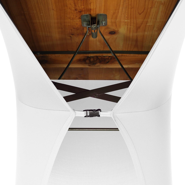 Couvre-chaises Bordeaux Couverture Spandex Lot Housses Extensibles 50x220cm pour Table /à bi/ère et bancs Housses de Tente /à bi/ère SCHEFFLER-Home 3 pi/èces Housses /élastiques