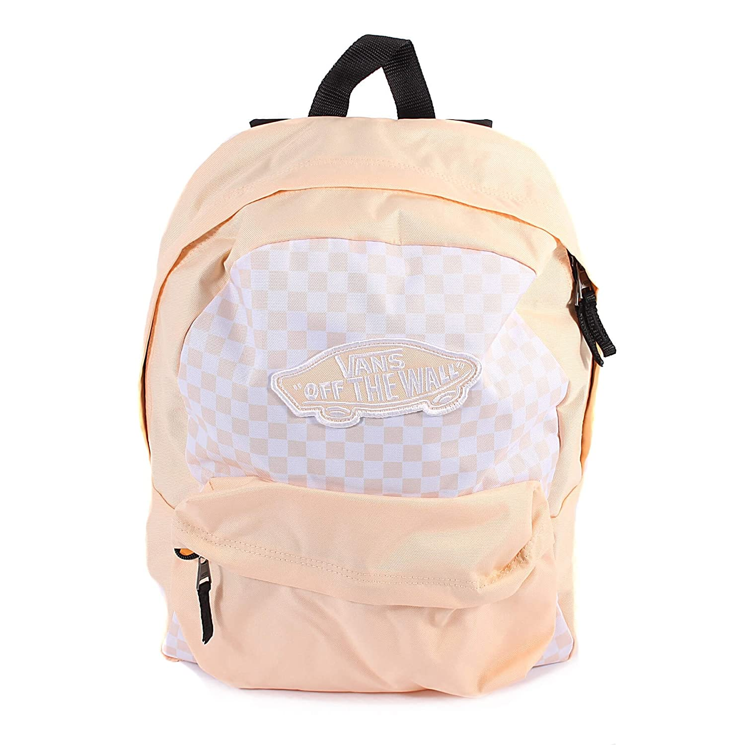 Vans Unisex Realm Polyester Backpack Bleached Apricot Checkerboard-Apricot-O/S Size O/S: Amazon.es: Zapatos y complementos