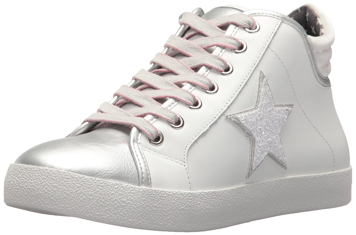 Steve Madden Women's Savior Sneaker B076TN54C9 9.5 B(M) US|White/Multi