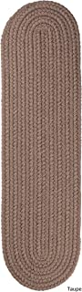 product image for Rhody Rug Madeira Braided Reversible Stair Treads by Taupe