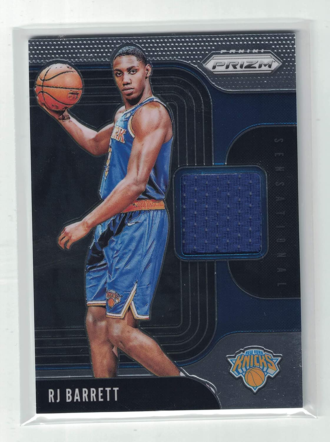 2019 Panini Prizm RJ Barrett Rookie Game Worn Jersey Patch Card