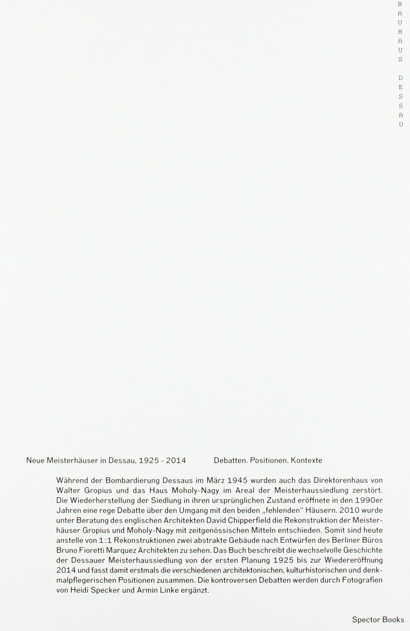 Neue Meisterhäuser in Dessau: 9783944669618: Amazon.com: Books