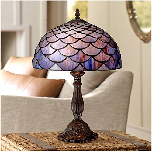 NOSHY Premium Tiffany Style UT08001 Butterfly Stained Glass Floral Sunflower Table Lamps, Multicolor, 8-Inch Diameter, 13.5-Inch Height, 1-E12 Lamp Socket, Pack of 1
