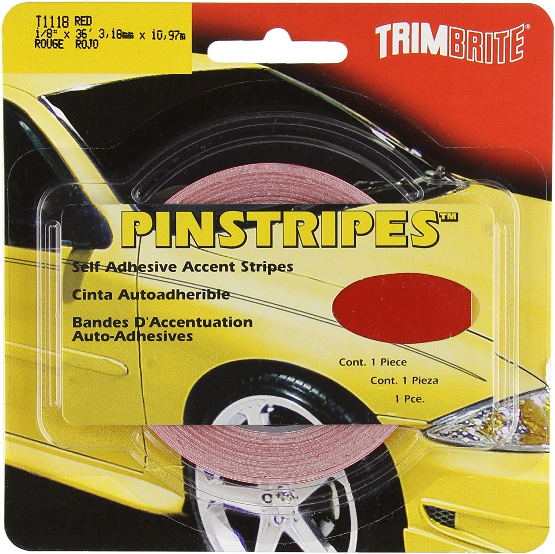 Amazon Com Trimbrite T1118 1 8 Pinstripe Tape Red Automotive